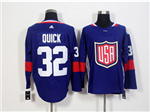 Team USA 2016 World Cup #32 Jonathan Quick Navy Blue Jersey