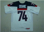 Team USA 2014 Sochi Winter Olympic #74 T. J. Oshie White Jersey