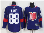 Team USA 2016 World Cup #88 Patrick Kane Navy Blue Jersey