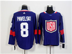 Team USA 2016 World Cup #8 Joe Pavelski Navy Blue Jersey