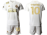 Atlanta United FC 2020/21 Away White Pinstripe Soccer Jersey with #10 G.Martínez Printing