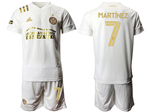 Atlanta United FC 2020/21 Away White Pinstripe Soccer Jersey with #7 Martínez Printing
