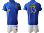 France 2019 100th Anniversary Blue Soccer Jersey with #13 Kanté Printing
