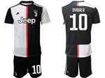 Juventus F.C. 2019/20 Home Black/White Soccer Jersey with #10 Dybala Printing