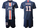 Paris Saint-Germain F.C. 2019/20 Home Navy Soccer Jersey with #11 Di María Printing
