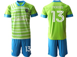 Seattle Sounders FC 2020/21 Home Green Soccer Jersey with #13 Morris Printing
