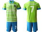 Seattle Sounders FC 2020/21 Home Green Soccer Jersey with #7 Roldan Printing