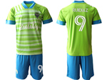 Seattle Sounders FC 2020/21 Home Green Soccer Jersey with #9 Ruidíaz Printing