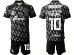 Tigres UANL 2020 Third Away Black Soccer Team Jersey with #10 Gignac Printing