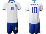 Brazil 2019 100th Anniversary Special-Edition White Soccer Jersey with #10 Neymar Jr. Printing
