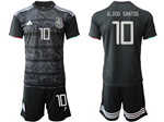 Mexico 2019/20 Home Black Soccer Jersey with #10 G.Dos Santos Printing