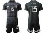 Mexico 2019/20 Home Black Soccer Jersey with #13 G.Ochoa Printing