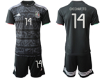 Mexico 2019/20 Youth Home Black Soccer Jersey with #14 Chicharito Printing