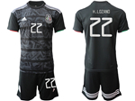 Mexico 2019/20 Home Black Soccer Jersey with #22 Lozano Printing