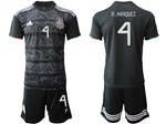Mexico 2019/20 Home Black Soccer Jersey with #4 R.Márquez Printing