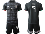 Mexico 2019/20 Home Black Soccer Jersey with #9 Raúl Printing